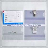 Clear Work Permit/ID Card Holder/Badge Holder With Clip for sale