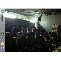 Quality Prominent Theme 6D Movie Theater System With Pneumatic / Hydraulic Control Motion Chair wholesale