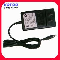 Quality Euro Plug 24W Wall Mount Power Adapter 12V 2A , CCTV Camera Power Supply wholesale