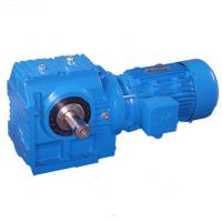 Quality Flange Mounted Helical Worm Gear Motor Reducer , Solid Shaft Inline Helical Gearbox wholesale
