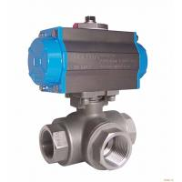 Quality Pneumatic 3 Way Ball Valve For Pharmaceuticals , 150# - 2500# API 607 API 6D wholesale