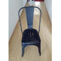 Quality Modern Metal Tolix Chair With Backrest , Tolix High Back Stool For Home / Restaurant wholesale