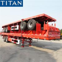 China TITAN 40~60 tons bogie suspension commercial Flatbed Semi Trailer manufacturers on sale