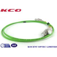 Quality Lime Green Single Mode Fiber Optic Patch Cables 50/125 OM5 SC Duplex Simplex wholesale