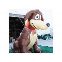 Quality 6m Hight Event Inflatable Cartoon Characters Brown Giant Inflatable Dog wholesale