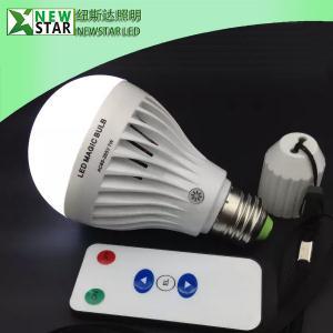 China Rechargeable 7W E26 E27 LED Bulb Light, Remote Led Emergency Lamp, LED Magic bulb on sale