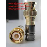 BNC Coaxial Connector BNC male Compression connector gold plated 50ohm for RG6 Coax Cable premium quality