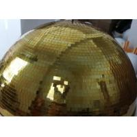 120CM Golden Mirror Ball Disco Stage Lights Customize Color Crystal Magic Rotating Ball