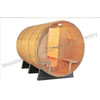 Quality Home sauna cabins , Weather resistant and cradles barrel steam sauna wholesale