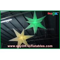 Quality 1.5m DIA Hang Up Celling Inflatable Star Balloon With LED Light Color Change wholesale