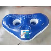 Quality Blue Color  Towable Inflatable Tubes For Lake, 2 Riders Inflatatble Towable Boat wholesale