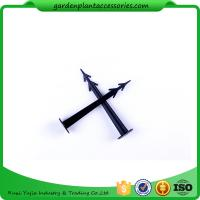 Quality Plastic Screw In Garden Ground Anchor For Netting Fix 27cm Length Black Plastic Garden plant accessories wholesale