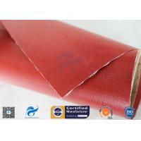 Quality Chemical Corrosion 1m*50m Satin Weave 0.45mm Silicone Coated Fiberglass Fabric wholesale