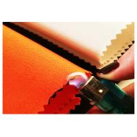 China FR 100% Cotton Red And Orange Colors Fireproof Fabric For Safety Garments To Firefighter on sale