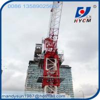 Quality 10 ton QTD125(5020) Luffing Jib Tower Crane with 50m Jib for Construction Building wholesale