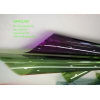 Quality Colorful Plastic PET Window Film For Residential / Auto Glass Solar Blocking Heat Resistant wholesale