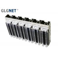 China Light Pipe Heat Sink SFP Cage Connector Six Ports In Ganged Structure on sale