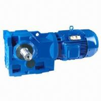 China Industrial helical bevel right angle gear motor, 0.12 to 200kW power  on sale