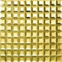 Quality 12x12 Mirror Metallic Mosaic Tiles Stainless Steel Mosaics For Bar / Hallway wholesale