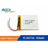 Quality 3.7v lithium polymer battery with 450mAh 283746pl li-ion rechargeable battery OEM manufacturer wholesale