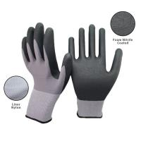 Quality 15 Gauge Seamless Knit Nylon Spandex Micro Foam Nitrile Gloves For Industrial Safety Work wholesale