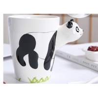 Quality Hand Printed 15 Ounce 3D Ceramic Reusable Coffee Cup wholesale