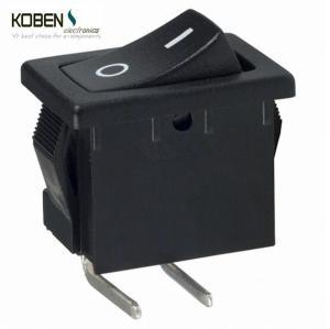 Quality Black Rocker Switch Parts 2 Pins R1966ABLKBLKFR E- Switch SPST 15A 125V wholesale