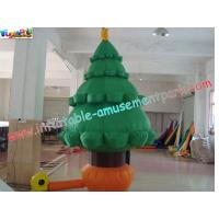 China Customized 420D PVC coated nylon Holiday Inflatable Christmas Tree Decorations on sale