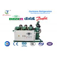 Quality Fresh beef cooling storage R404a Bitzer brand screw type parallel compressor racks wholesale