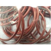 Quality Encapsulated Silicone O Ring Seals , Red High Temperature Rubber Silicone Rings wholesale