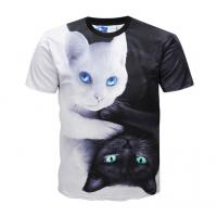 China Casual 3d Animal Print T Shirts / Dye Sublimation T Shirts Round Neck on sale