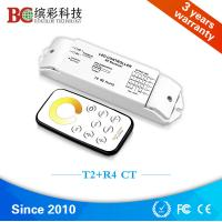 Quality T2+R4 DC 12V - 24V 4 channels color tempeture control with RF touch remote CCT led controller wholesale
