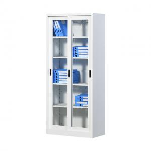 China Sliding Glass Two Door 4 Layers H1850mm Steel Filing Cabinet on sale