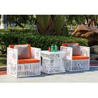 Quality Mesh With Flower Outdoor Rattan Table And Chairs Set For Beauty Salon wholesale