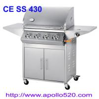 Quality Outdoor Gas Grill 4burner with side burner wholesale