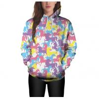 Quality Autumn Sublimated Long Sleeve Shirts , Full Sublimation Hoodies For Women wholesale