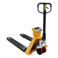 Quality 2T Hand Pallet Truck Scales Wear Resistant With Hydraulic Drum Lifter wholesale