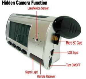 Cheap Home Security Mini Alarm Clock DVR Spy Hidden Surveillance Camera Audio Video Recorder for sale
