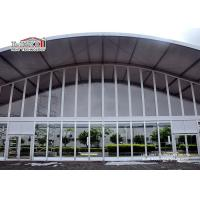Quality Sound Proof 40x60m Outdoor Exhibition Tent Aluminum Arch With Glass Sidewall wholesale