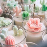 Cheap Custom Artificial Plant Non Toxic Scented Candles Soy Based Candles With Wooden for sale