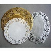 China Paper Doilies, Available in White, Gold and Silver on sale