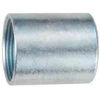 China NPT Rigid Threaded Coupling , White Galvanized Threaded Conduit Fittings on sale