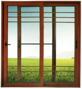 China High quality aluminum sliding door three rail series with screen net optional on sale