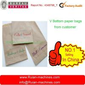 China kraft paper bags making machine on sale