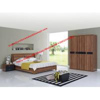 Quality Walnut panel Storage bed by life device in Apartment Furniture set with open door closet wholesale