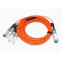Quality QSFP28 To 4x SFP28 Breakout Active Optical Cable 850nm Multimode Per Channel wholesale