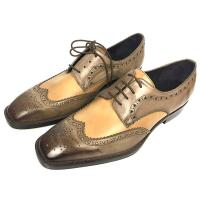 Quality Iron Woven Mens Woven Leather Lace Up Shoes Pointed Toe Flats Mens Brown Wedding Shoes wholesale