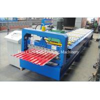 China Garage Door Steel Cold Roll Forming Machine , Sheet Metal Forming Equipment on sale