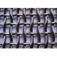 Quality Architectual Decorative Wire Mesh Fence Panels , Stainless Steel Woven Wire Mesh wholesale