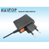Quality EU Plug 5V 1000mA Wall Mount Switching Power Adapter For CCTV Camera System wholesale